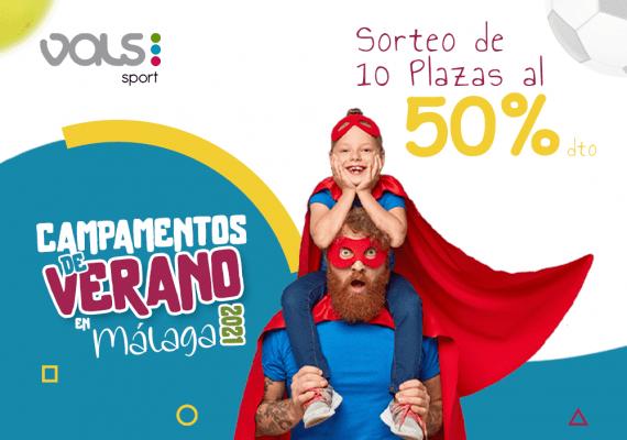 Sorteo de 10 plazas al 50 por ciento para el Campamento de verano deportivo para niños y adolescentes con Vals Sport Málaga