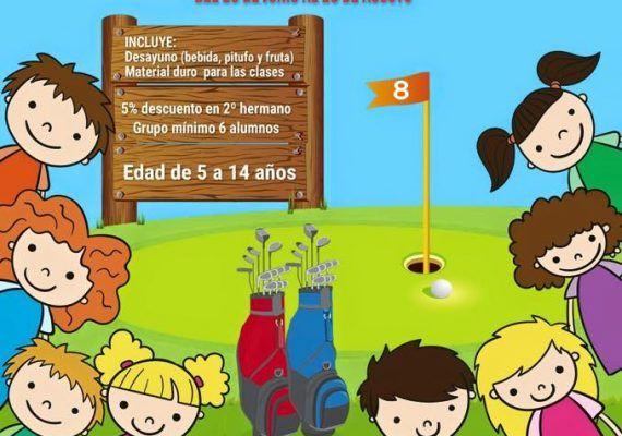 Cartel del campamento de verano en Benalmádena Golf