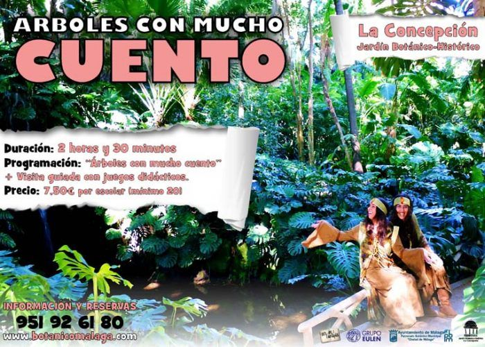 Cuentacuentos en el Jardín Botánico La Concepción