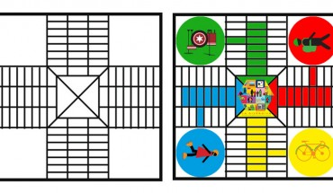 tablero de parchis coloreado