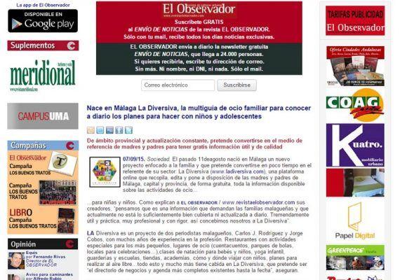 La revista El Observador