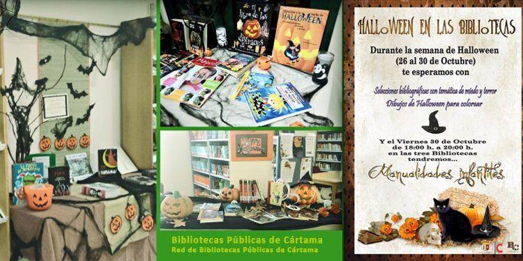 halloween bibliotecas cártama collage cabecera