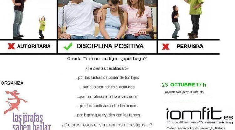 Charla sobre disciplina positiva en la educación de los hijos
