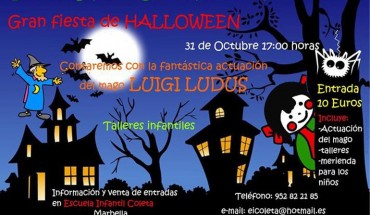 Fiesta infantil Halloween en Marbella
