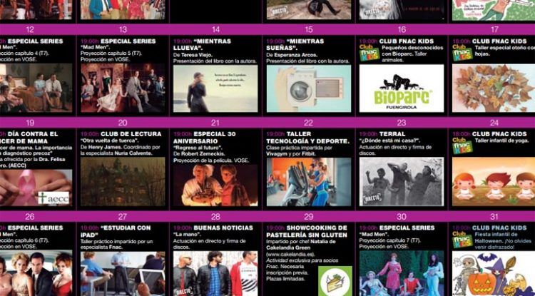 Actividades Fnac de Málaga en octubre