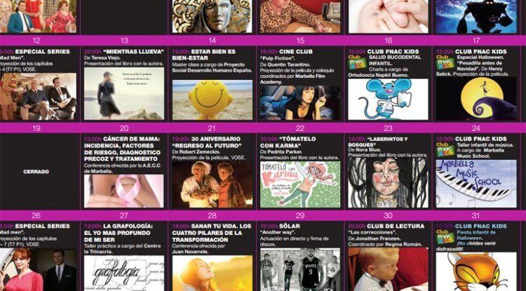 Agenda cultural infantil de la Fnac Marbella para octubre de 2015