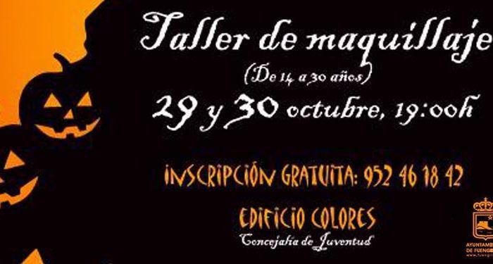 taller maquillaje halloween fuengirola cartel