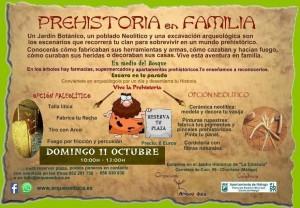 folleto prehistoria en familia imagen