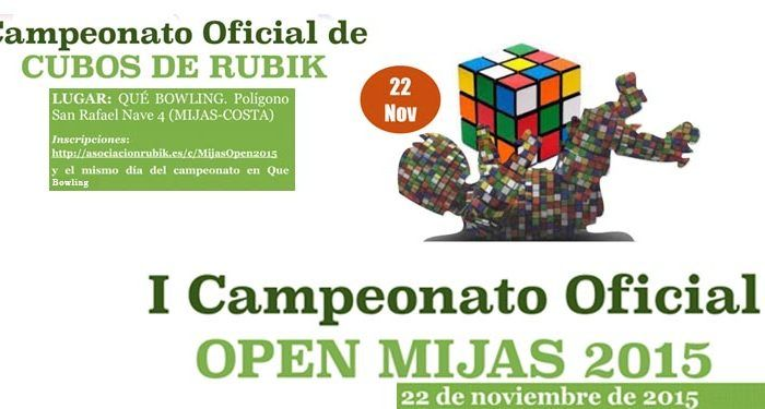 I Campeonato Open Mijas 2015 de Cubo de Rubik cabecera