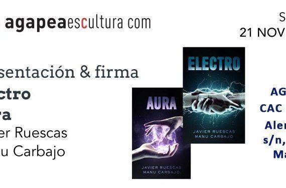 firma presentación libros saga electro autores cabecera