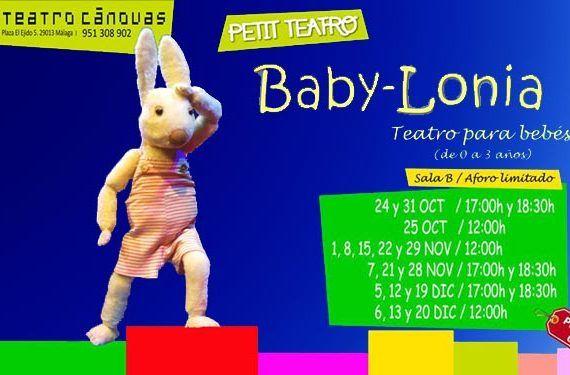 Baby-lonia' espectáculo familia bebé Cánovas cabecera