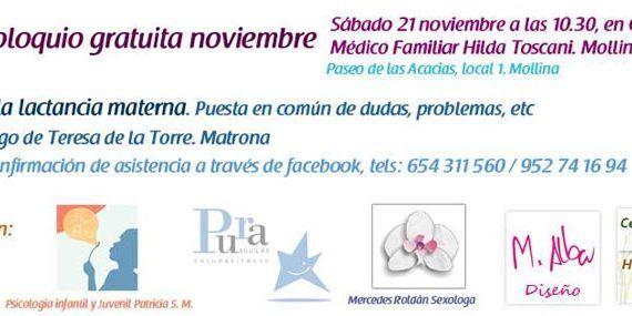 Lactancia materna en Mollina, charla el 21 de noviembre