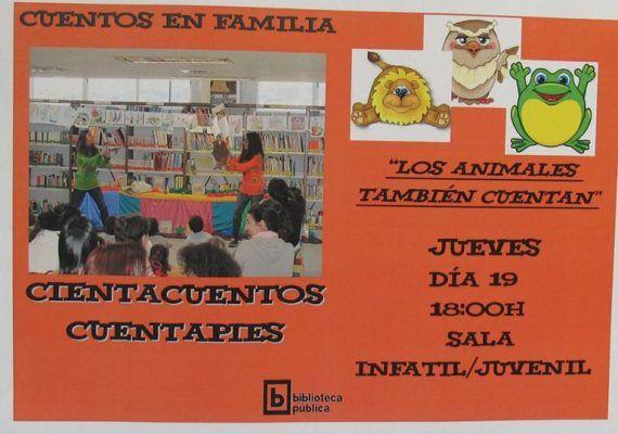 Cuentacuentos en la Biblioteca Provincial de Málaga el jueves 19 de noviembre