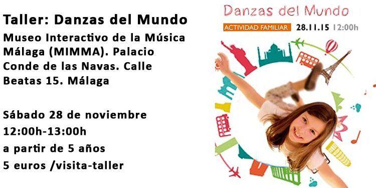 taller danzas del mundo familiar niños niñas, cabecera