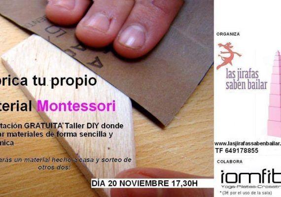 Taller Montessori en Málaga el 20 de noviembre