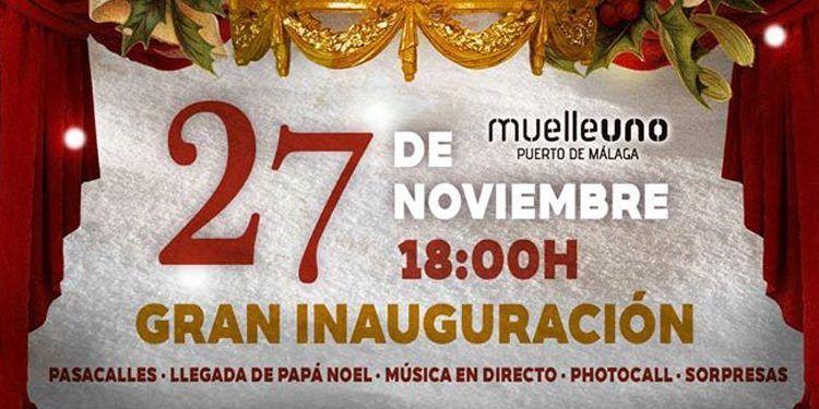 muelle uno inauguración navideña 27 noviembre plaza nieve cabecera