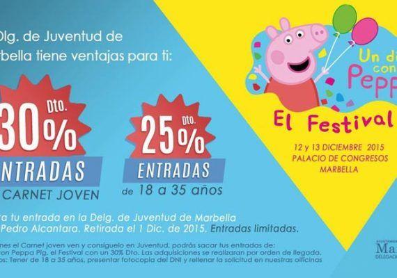 Descuentos para el Peppa Pig Festival de Marbella