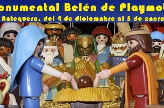 nacimiento belén monumental antequera colectivo imagines playmobil exposición cabecera