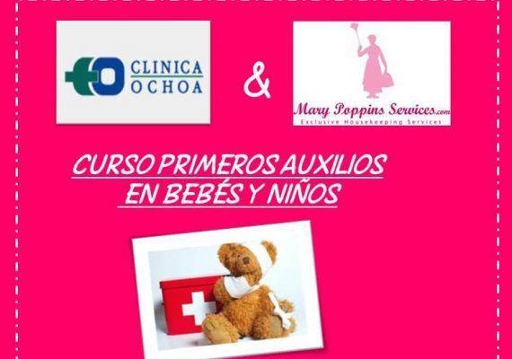 Curso de primeros auxilios en bebés y niños