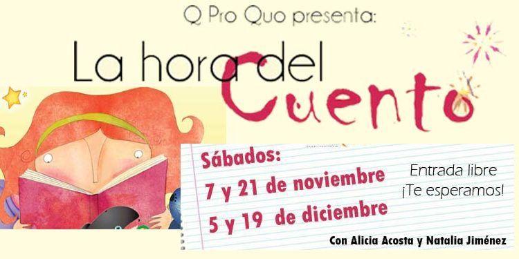 Cuentacuentos gratis librería QProQuo 7 noviembre cabecera