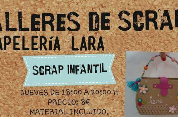 taller scrap álbumes invitaciones tarjetas papelería Lara cabecera