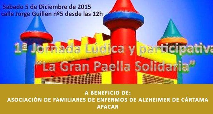 fiesta solidaria alzheimer cártama actividades para niños paella cabecera