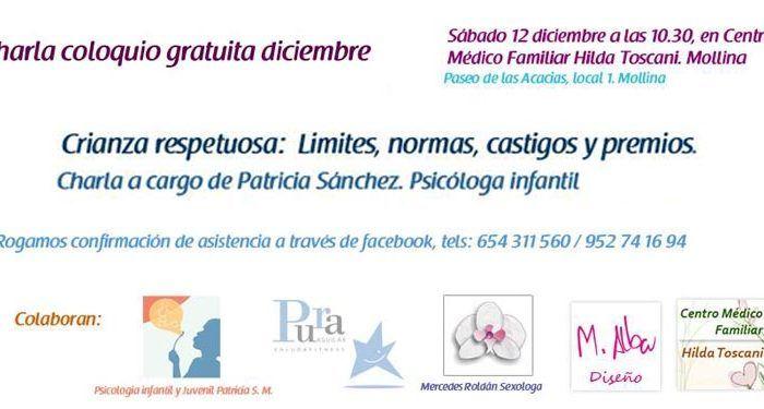 Grupo apoyo lactancia y crianza respetuosa de Antequera y Comarca, esta charla tratará sobre los conceptos de 'Límites, normas, castigos y ' cabecera