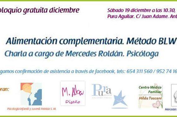 Grupo de apoyo a la lactancia y crianza respetuosa de Antequera y Comarca, psicóloga Mercedes Roldán introducción al Método BLW de complementaria cabecera