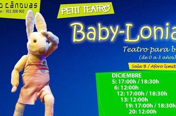 teatro bebés espectáculo baby-lonia petit cánovas cartel cabecera