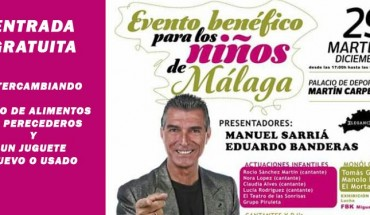 acto benéficio niños málaga gala espectáculo infantil familiar cabecera