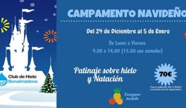 campamento navidad club de hielo benalmádena natación patinaje deporte cabecera