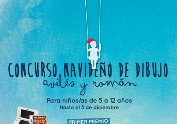 Concurso navideño de dibujo infantil en Avilés y Román