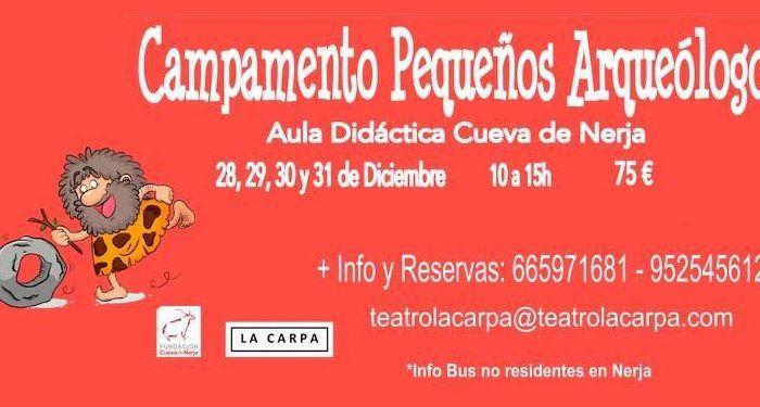 navidad cueva nerja museo talleres campamento arte arqueología cabecera