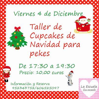 Taller de cupcakes de Navidad para niños en La Escuela con Encanto