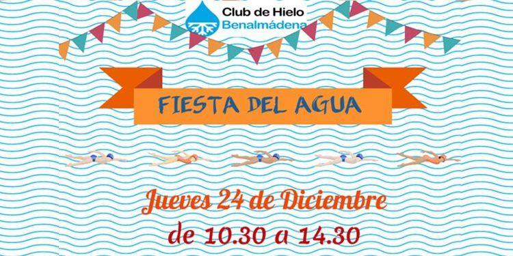 fiesta agia club de hielo benalmádena piscina climatizada hinchables tobogán cabecera