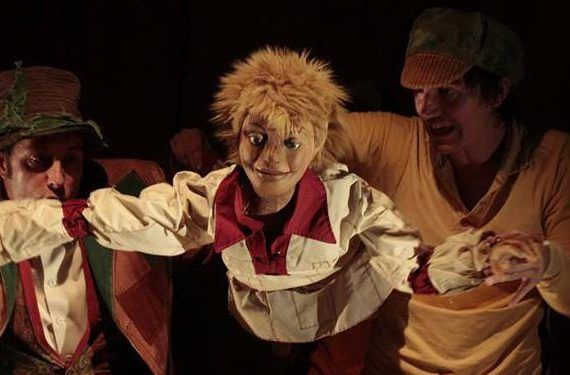 Juan Sin Miedo actores marionetas Anem Anant Teatro Echegaray cabecera