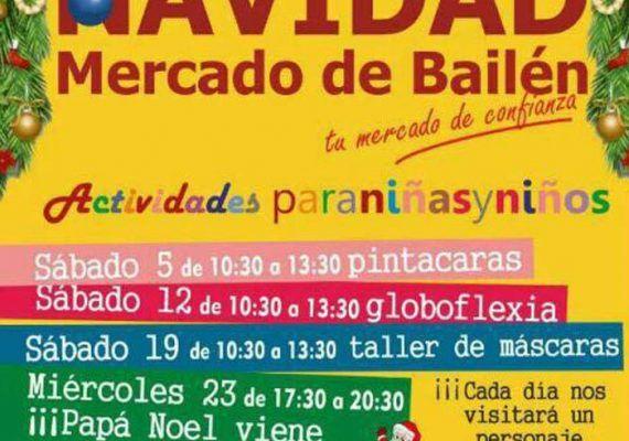Navidad en el Mercado de Bailén con planes para niños