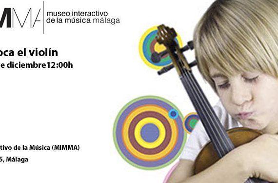 mimma taller toca el violín niña niño cabecera