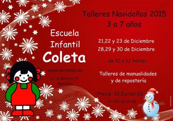 Taller de Navidad para niños en Marbella