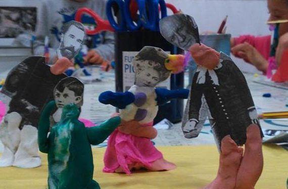 taller infantil casa natal picasso imagen recortar pintar decorar cabecera