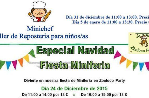 zooloco party fiesta Navidad taller repostería galletas chocolate atracciones cabecera