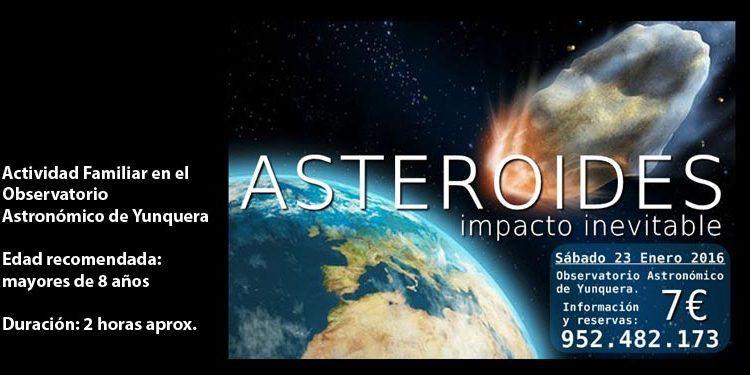 asteroides impacto tierra observatorio yunquera cabecera