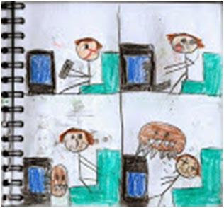 imagen comic el televisor monstruo blog literario infantil tebeo