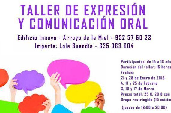 talleres expresion comunicacion oral benalmadena enero febrero marzo cabecera