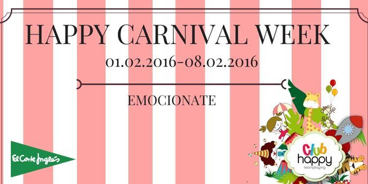 happy carnival week talleres fiesta maquillaje decoración máscaras cabecera