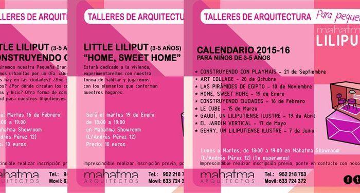 Talleres arquitectura little Mahatma Liliput nuevo calendario 3-5 cabecera