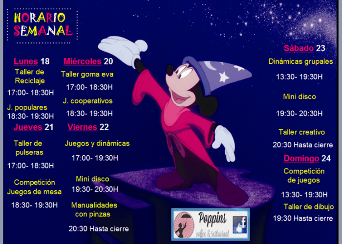 Actividades para niños en Poppins