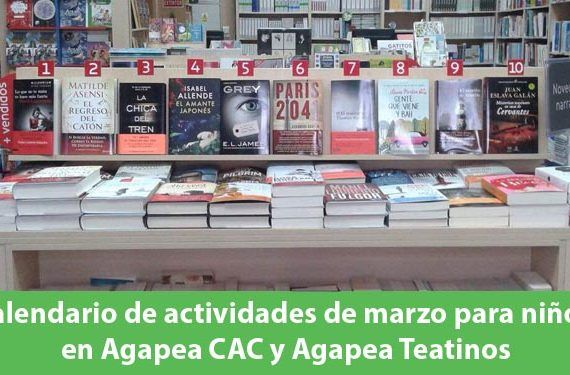 Agenda de marzo de actividades para niños en Agapea