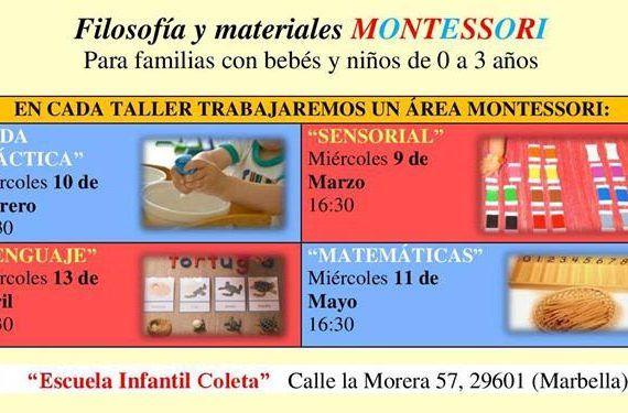 Talleres Montessori en escuela coleta Marbella