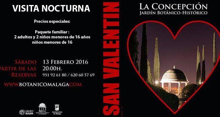 San Valentín familiar en La Concepción visita nocturna cartel cabecera